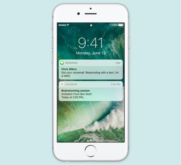 รูปแบบหน้าจอล็อคออกแบบใหม่ของ iOS 10