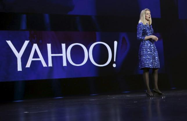 File photo of Yahoo CEO Marissa Mayer delivering her keynote address at the annual Consumer Electronics Show (CES) in Las Vegas