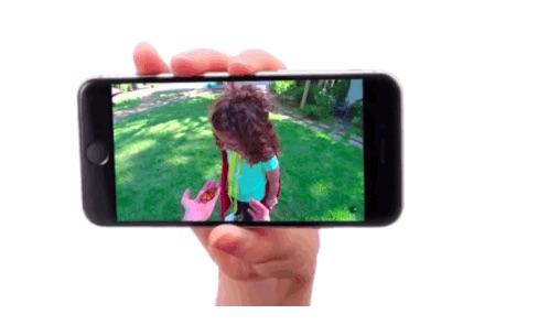 วิดีโอที่ถ่ายไว้จะสามารถกลับด้านหรือ rotate จากแนวตั้งเป็นแนวนอนได้ในภายหลัง