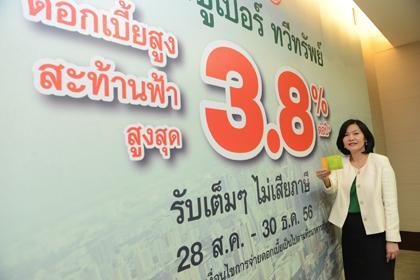 """กสิกรไทยสร้างฐานลูกค้าเงินฝากยาว ออกเงินฝากประจำ 24 เดือน """"ซูเปอร์  ทวีทรัพย์"""" ฝากขั้นต่ำเริ่มเพียง 1,000 บาทต่อเดือน  จ่ายดอกเบี้ยสูงสุดในตลาดถึง 3.80% ต่อปี ..."""
